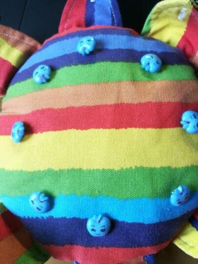 梦马儿童厚帆布飞盘 幼儿园手工软飞碟练习系扣子沙包早教玩具 维尼熊红点 晒单图