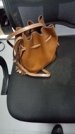 山水集女士单肩包新款牛皮斜挎水桶包真皮复古简约迷你流苏包 科罗拉多棕 晒单图