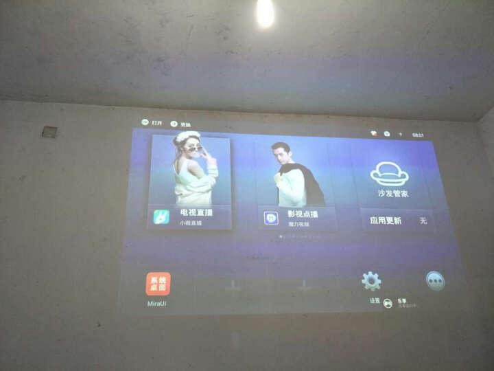 酷乐视(COOLUX) S3微型投影仪 led 家用投影机  高清3D智能无线投影仪 S3旗舰版+伸缩落地支架 晒单图