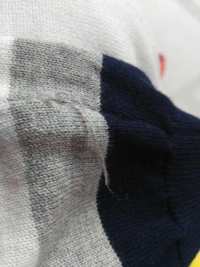 传奇保罗 毛衣男加厚 纯棉秋冬新品青年套头加绒线衣 韩版修身针织衫男 圆领羊毛衫 宝蓝 色 M 晒单图