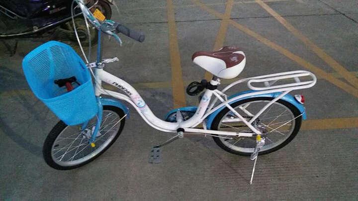 上海凤凰女士自行车20寸女士成人ZXC轻便休闲通勤单车梦里水乡款 天蓝色 20寸适合身高130cm-165cm 晒单图