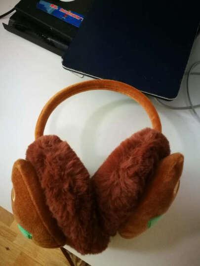 保暖时尚毛绒可爱儿童护耳套男耳捂女耳耳包暖冬成人调节卡通耳罩 小猪西瓜红 晒单图