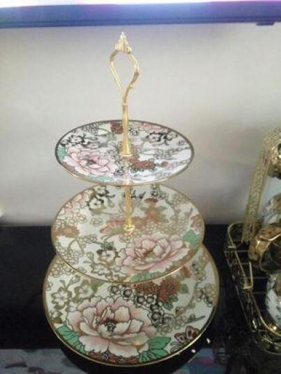 礼乐淘  欧式蛋糕点心三层水果盘 创意陶瓷西点托盘甜品架 天鹅三层 晒单图