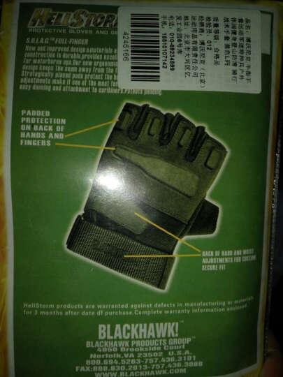 博沃尼克 半指手套运动军迷特种兵户外休闲健身登山防滑 骑行战术手套 黑色L码 晒单图