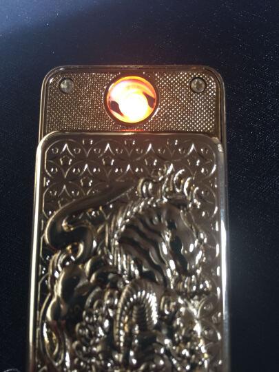 名仕(MenSeek)电弧打火机 USB充电电子点烟器防风超薄金属直冲个性创意礼品520情人节礼物 飞龙吉祥-黑色 晒单图