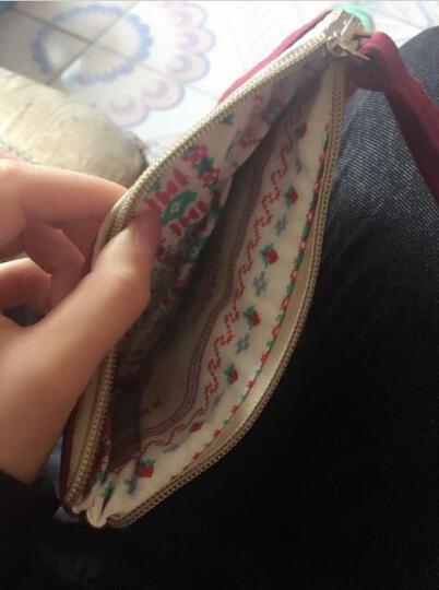 名夏卡通可爱帆布零钱包韩版风范钥匙包甜美淑女复古风硬币包创意收纳 贝里 晒单图