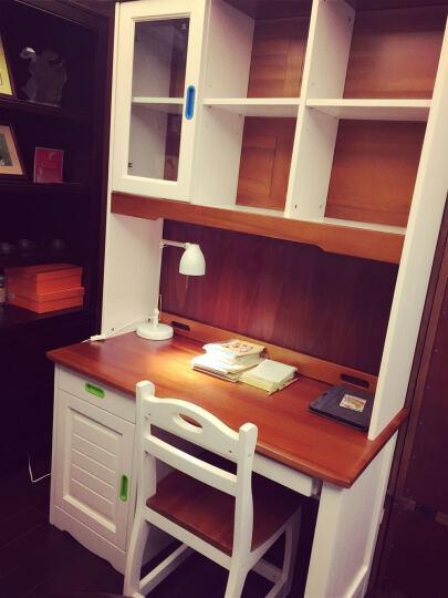 多美居 儿童美式胡桃木书桌 简约家用电脑桌 书桌书柜组合 预售 转角 1.5米学习桌+椅子 晒单图