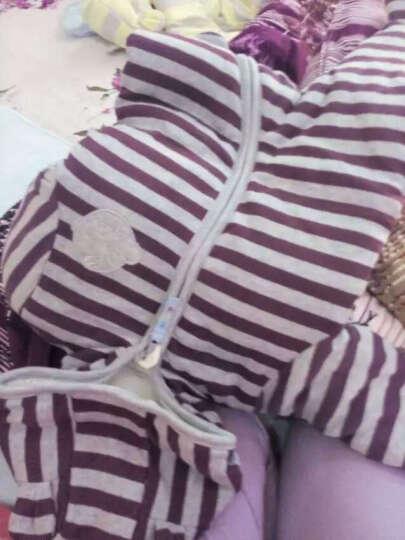 乐儿佳婴儿连体衣冬装加厚宝宝衣服秋冬爬服棉衣新生儿外出服过年新年衣服 765兰/卡其/白色 59码 晒单图