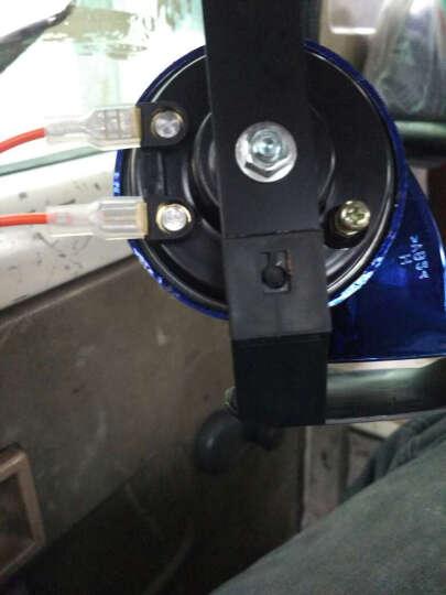 MOTOWOLF摩托车配件 摩托车喇叭 蜗牛喇叭改装配件 12v汽车电动车高音喇叭防水 蓝色 晒单图
