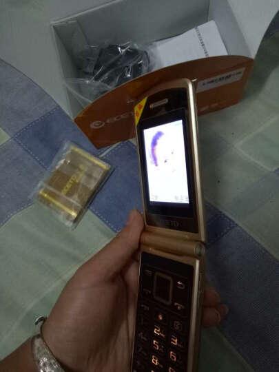 亿达MG500D 移动联通2G男士翻盖手机 双卡双待 香槟金 晒单图