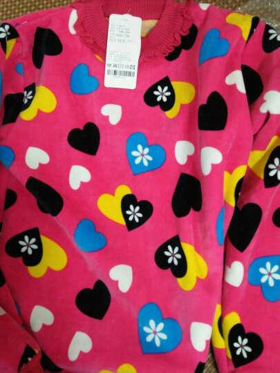 小牧爱家 童装女童毛衣加绒加厚儿童冬装保暖线衣中大童高领套头针织打底衫 玫瑰小马 120cm 晒单图