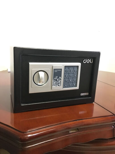 得力(deli)铁甲小宝密码保管箱入墙入柜 高20cm办公家用小型保管柜 33057 晒单图