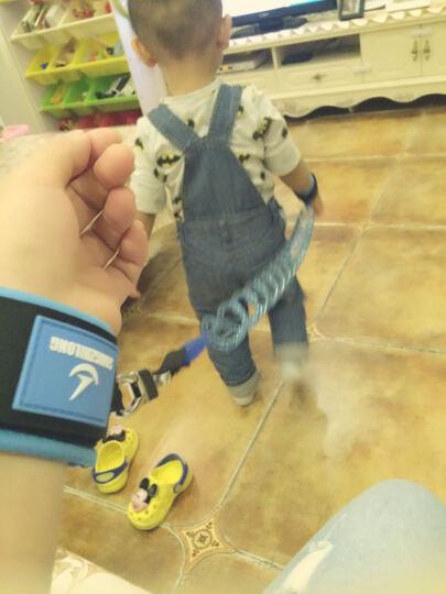 儿童防走失带宝宝婴幼儿牵引绳小孩防走丢手环背包防丢带绳【拉伸可达1.8米】 靓橘 晒单图