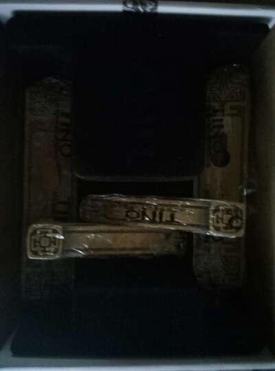 天奴五金新中式卧室室内门锁 防盗门锁三件套装  静音实木门锁 房门锁把手仿古铜锁9303 红古锁+4330红古平开合叶3片+883红古门吸 带钥匙 晒单图