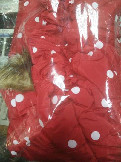 童装女童棉衣品牌棉服中大儿童外套 黑色 160 晒单图