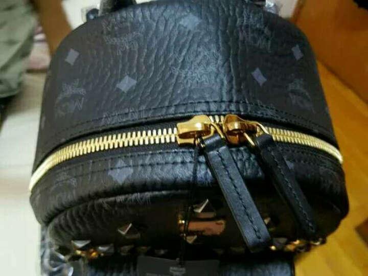 MCM 新款双肩包M字柳钉小号背包 黑色MMK6SVE19BK 晒单图