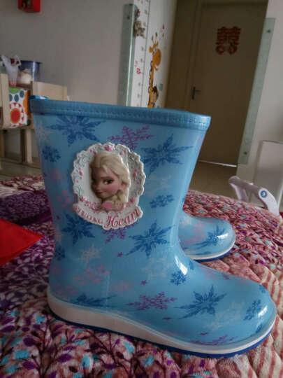 迪士尼 Disney 儿童雨鞋 男女童小学生中筒防滑胶鞋大小童雨靴 16180 冰雪蓝37码/内长24.3cm 晒单图