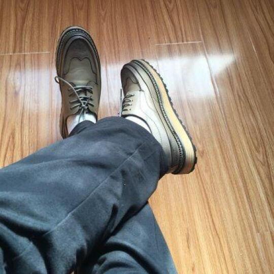 卡帝乐鳄鱼(CARTELO)休闲鞋男鞋小白鞋休闲运动鞋子男士单鞋韩版潮鞋系带板鞋男 白色2119 41 晒单图