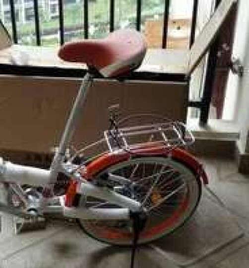 永久(FOREVER) 永久折叠车自行车 铝合金20寸7速/男女学生单车 雅途 橙色 高配 20寸 晒单图