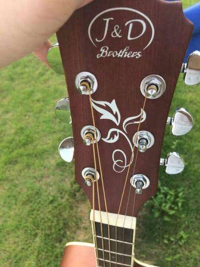 J&DBrothers入门41寸缺角初学民谣古典原木色木吉他电箱吉他jita 原木色 D桶 晒单图