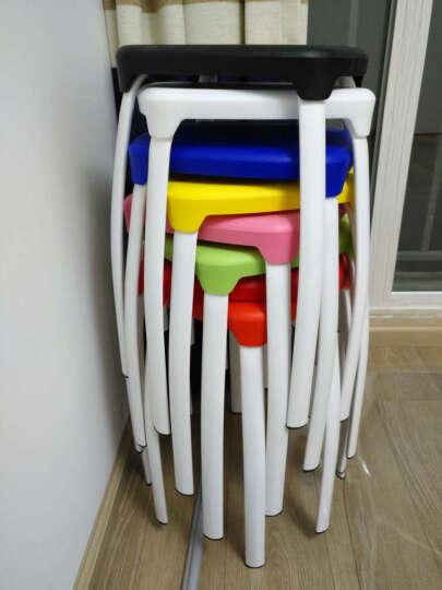 瑞帝凳子时尚创意彩色加厚凳子家用餐厅简易椅子餐椅高凳子彩色塑料凳子餐凳方凳两个起售,下单一个不发货 白色 晒单图