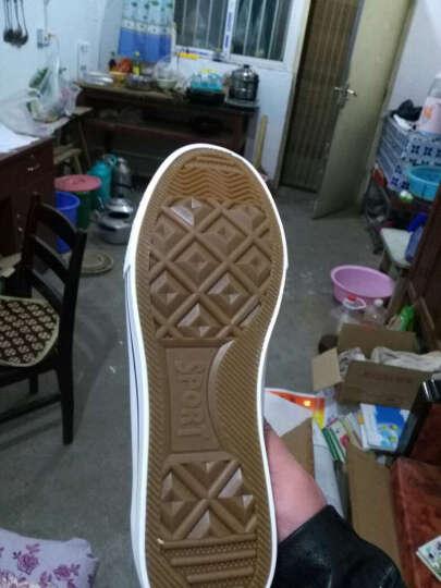 正品上海回力鞋 男女鞋情侣帆布鞋纯色低帮休闲学生鞋子板鞋男鞋 473高帮白色 34-偏大一码 晒单图