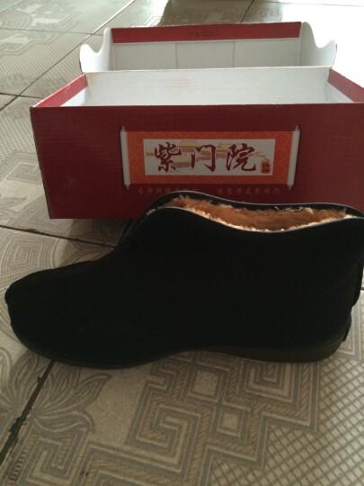颐福元老北京布鞋男冬款棉鞋爸爸棉靴保暖老人鞋高帮中老年防滑软底 黑色 41 晒单图