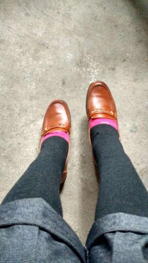恒有福2019春秋女单鞋坡跟平地防滑软皮软底浅口工作鞋日常休闲鞋豆豆鞋 橙色 41 晒单图