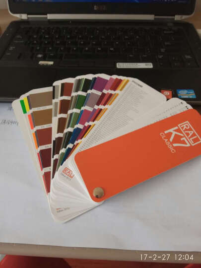 新版德国原装RAL色卡K7劳尔色卡RAL-K7色卡国际标准色卡涂料喷涂油漆色卡亮光 晒单图