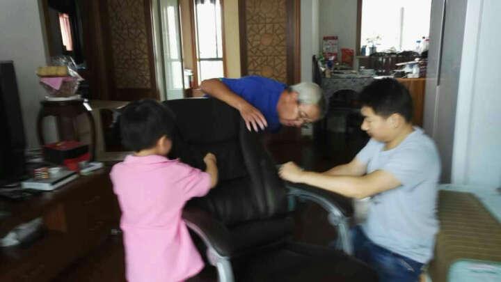 绿豆芽 可躺老板椅 电脑椅 办公椅 家用 皮椅 可选真牛皮椅子 人体工学转椅座椅D1518 咖啡色pu皮+150度可躺 钢制脚 晒单图
