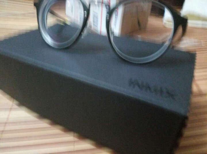 音米(INMIX)眼镜架女复古圆形眼镜框tr超轻框架可配近视光学眼镜韩版潮人眼镜女  2197 琥珀色+送1.56防蓝光镜片 晒单图