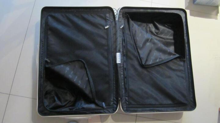 OCCA纯PC拉链箱万向轮女铝合金包角旅行箱金属锁行李箱 雾面白色 26英寸 晒单图