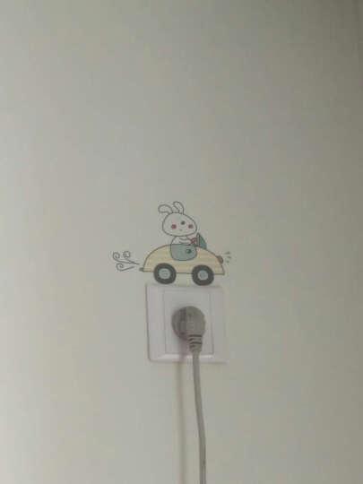 其乐 卡通趣味自粘墙纸贴画儿童卧室随心贴纸创意可爱动物房间开关贴画 -MM1003-G-梦想小牛 晒单图