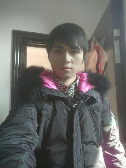 ULICI 冬季新款时尚大毛领羽绒服女中长款加厚 韩版修身显瘦 潮 黑色 M 晒单图