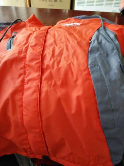 小儿郎童装冬季新款儿童冲锋衣套装两件套中大童男童风衣外套加绒加厚女童冬装户外登山服 桔红 110 晒单图