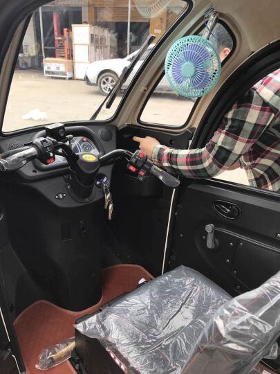 NLIGHT 恩莱德N100全封闭电动三轮车老年休闲代步车 三人座接送孩子雷霆皇款赠送倒车影像和风扇 三色棕 高续航(2组6032铅酸电池) 晒单图