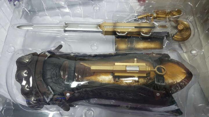 刺客信条COSPLAY模型1:1道具袖箭神剑拐杖动漫周边剑模型收藏摆件男孩礼物 刺客信条 鬼头项链锌合金戒指九件套 金色 晒单图
