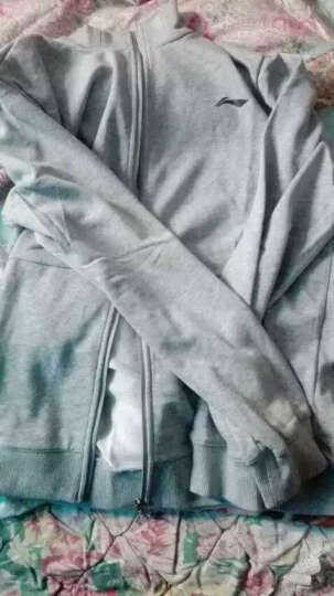 李宁官方男子卫衣男子训练系列反光开衫无帽运动服AWDL303 花灰午夜蓝 S 晒单图