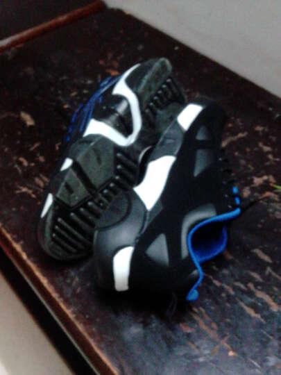悍捷路 男鞋 男士休闲鞋 冬季保暖加绒休闲皮鞋  韩版运动板鞋  鞋子男款 蓝色透气 41 晒单图