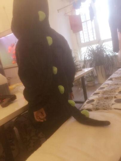 欧丝卡(OSILKA) 儿童连体衣睡衣秋冬加厚法兰绒宝宝连体衣儿童珊瑚绒男女童恐龙熊大 熊大(纽扣款 帽子可拆) 7码(建议6-7岁/115-125cm) 晒单图