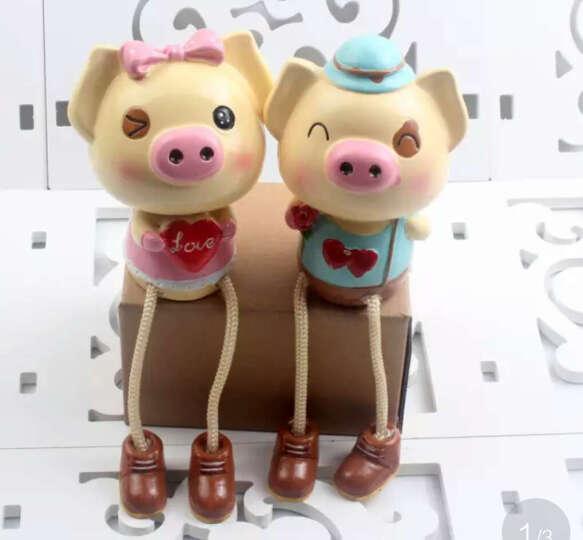 巨头爱心情侣猪吊脚娃娃摆件可爱小猪家居玄关隔板树脂婚房装饰品创意情侣节日小礼品生日礼物 情侣猪吊脚娃娃一对 晒单图