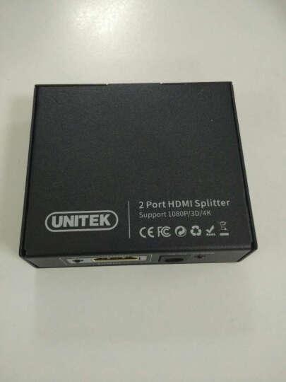 优越者(UNITEK)hdmi分配器一分二 1进2出4k视频分屏器 数字高清分屏显示器 电脑盒子电视连接线3D视效Y-5183A 晒单图