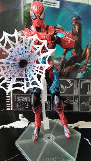 美国队长手办玩具钢铁侠蜘蛛侠蝙蝠侠摆件模型PLAY ARTS改关节可动复仇者联盟3盒装男生创意礼物 蜘蛛侠蓝黑色限量版 晒单图