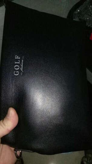 高尔夫GOLF头层牛皮男士手包大容量手抓包男款牛皮信封包商务手拿包可装iPad 咖色大容量9704 晒单图