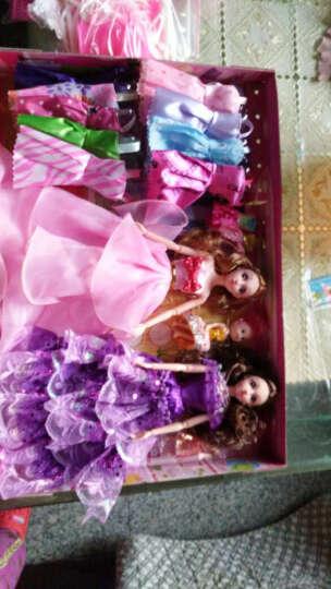 腾文颐 女孩娃娃拖尾羽毛婚礼婚纱公主娃娃套盒礼盒3D真眼美瞳12关节摆件女孩玩具闺蜜礼物 迷糊娃娃粉纱系列 晒单图