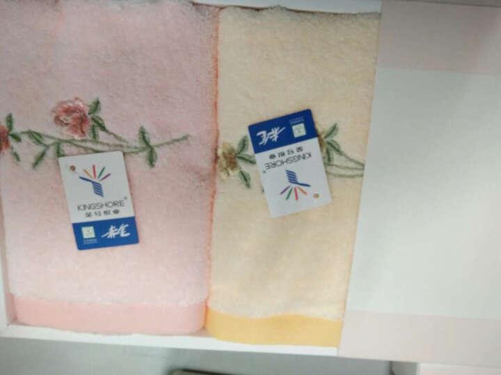 金号毛巾礼盒 纯棉条纹面巾2条装1809 2145粉色礼盒 2条装+礼盒 晒单图