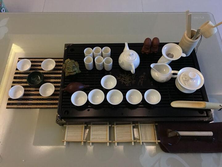 甲馨 紫砂功夫茶具套装 陶瓷冰裂白瓷茶壶茶杯整套茶具 电热磁炉实木分体茶盘茶台 清香绿冰裂套装+烧水壶 晒单图