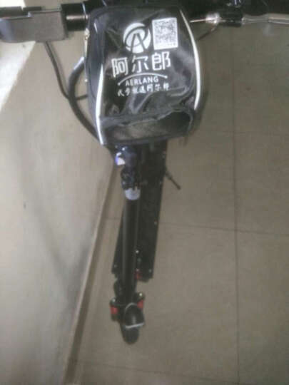 阿尔郎(AERLANG) 智能电动滑板车成人小型迷你代驾折叠电动车锂电池自行车代步车 黑色-豪华款(续航45-55公里) 全国联保 晒单图
