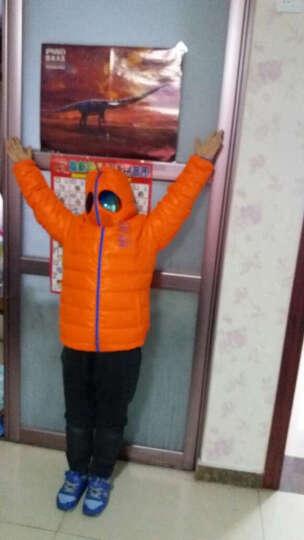 安踏童装 男中大童羽绒风衣连帽外套2016冬季新款男童羽绒服男童外套35644913 桑巴橙-2 130cm 晒单图
