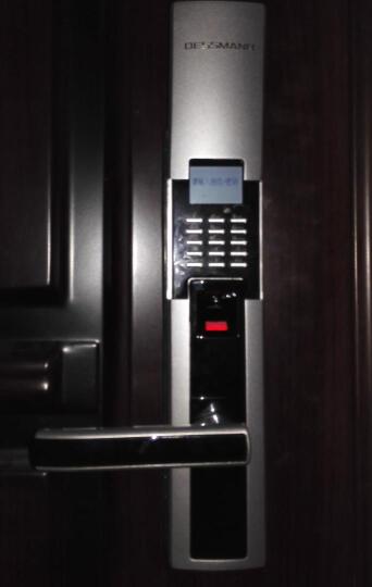 德施曼指纹锁S510 电子锁智能门锁密码锁防盗门锁家用 星夜银 晒单图